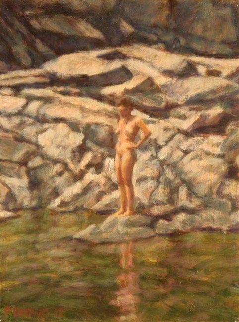 skinny dipping is a must in the Yuba Phil Brown at Mowen Solinsky Gallery  Rural California