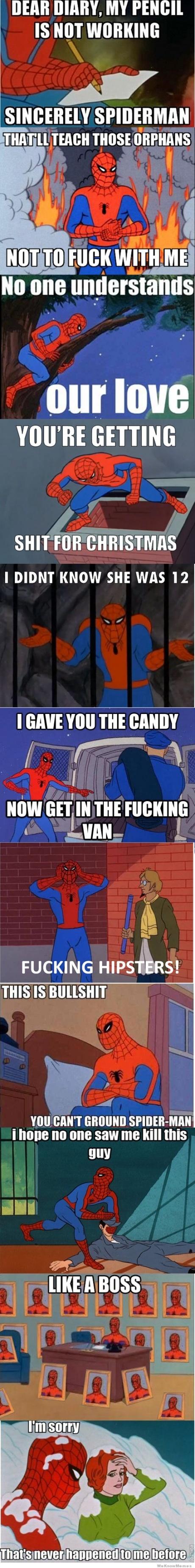 I love 60s spiderman jokes.