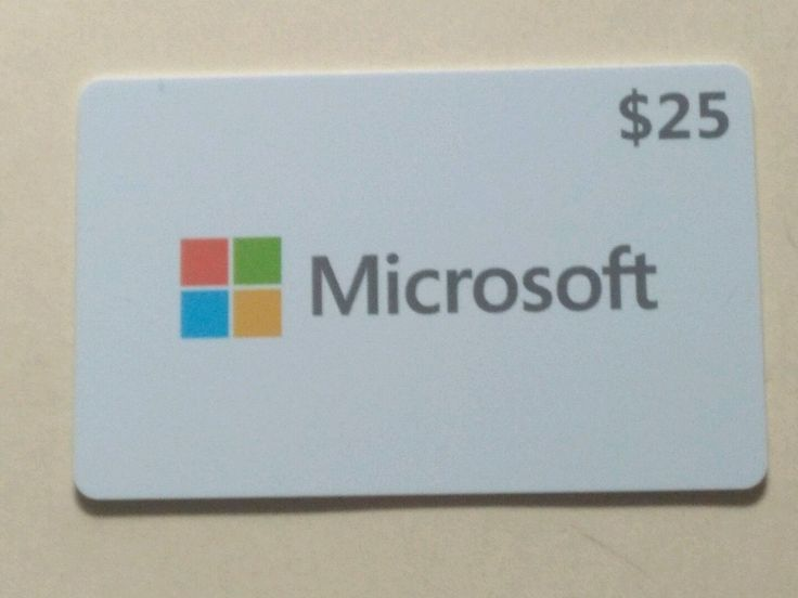 25 microsoft store gift card 25 in store use only