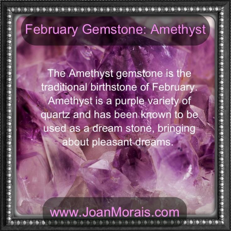 February gemstone is Amethyst