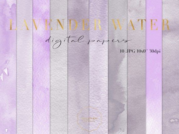 Lavender Watercolor Textures Purple Watercolor Papers Shabby