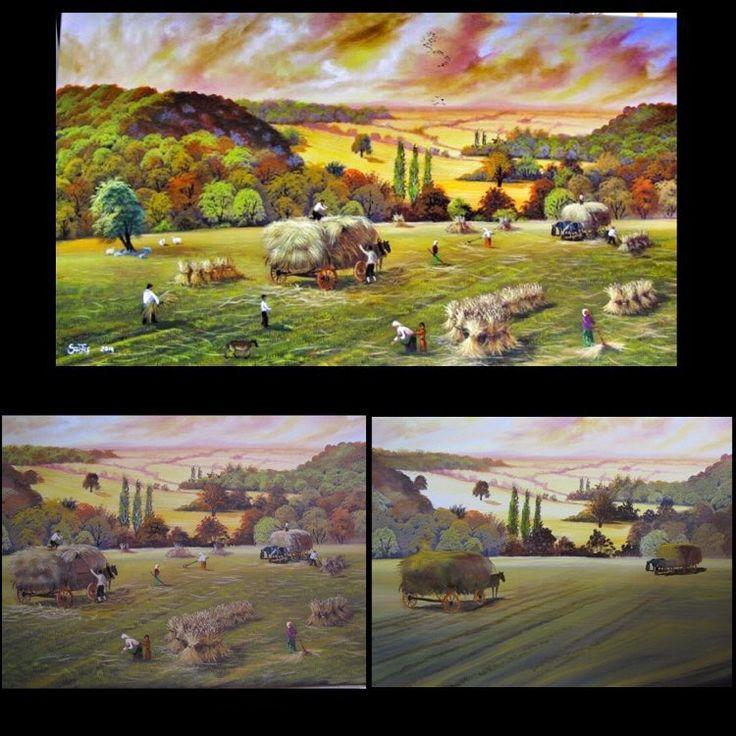✨HASAT TOPLAMA ✨ 75x140Tuval Üzeri Yağlı Boya.  #resim #tablo #sergi #resimsergisi #ressam #yağlıboya #oilpainting #sanat #ankara #izmir #istanbul #art #artwork #fineart #vscocam ✨Bu Esere Sahip Olmak İçin; Okan Sartaş 05074409494✨ #drawing #canvas #ig_turkey #turkeyinstagram #turkeyartist #artofdrawing #ig_art