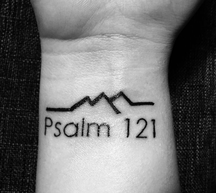 Psalm 121 tattoo  My favorite bible verse: Psalm 121 A song of ascents.  1 I lift up my eyes to the mountains—     where does my help come from? 2 My help comes from the Lord,     the Maker of heaven and earth. 3 He will not let your foot slip—     he who watches over you will not slumber; 4 indeed, he who watches over Israel     will neither slumber nor sleep. 5 The Lord watches over you—     the Lord is your shade at your right hand; 6 the sun will not harm you by day,     nor the moon by…