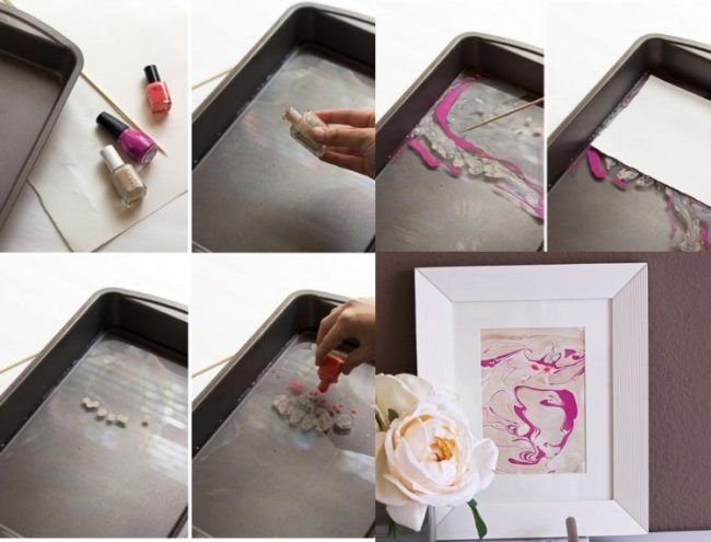 Stunning bilder selbst gestalten wanddeko marmor effekt rosa pink