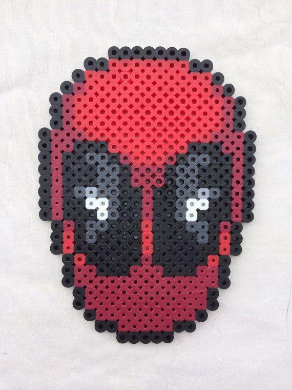 Deadpool Perler Bead Sprite for sale by PrettyPixelations!