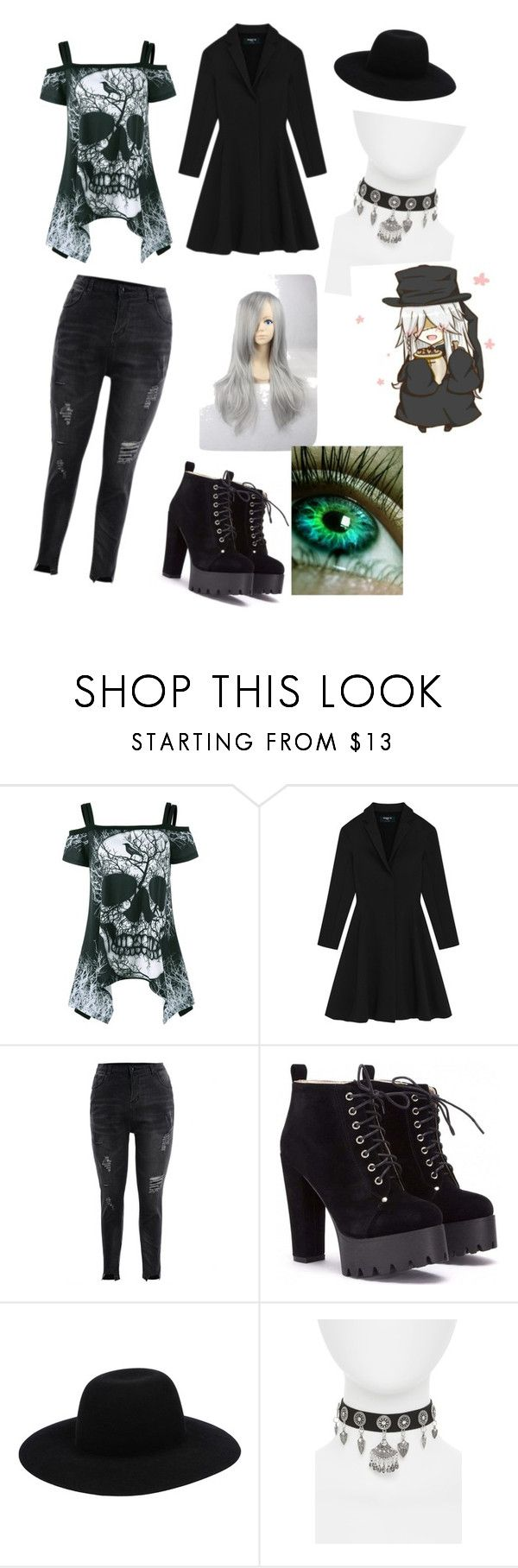 """""""Black butler: undertaker"""" by mackenzie-kitts ❤ liked on Polyvore featuring Off-White and Topshop"""