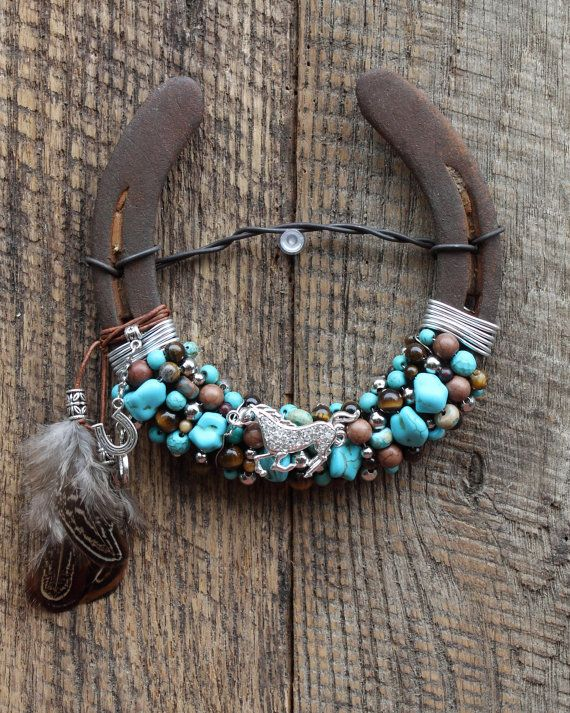 16 Best Beaded Horseshoes By White Feather Jewelry Images