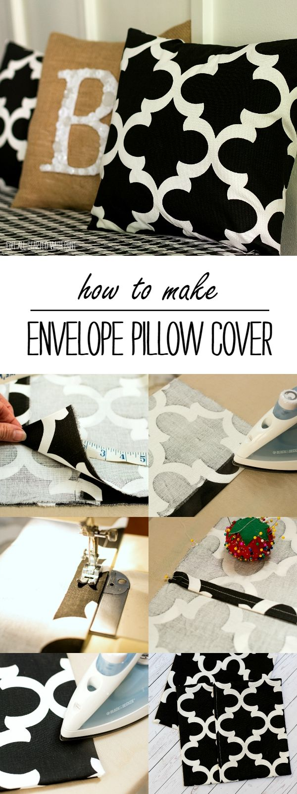 Envelope Pillow Cover How To - It All Started With Paint