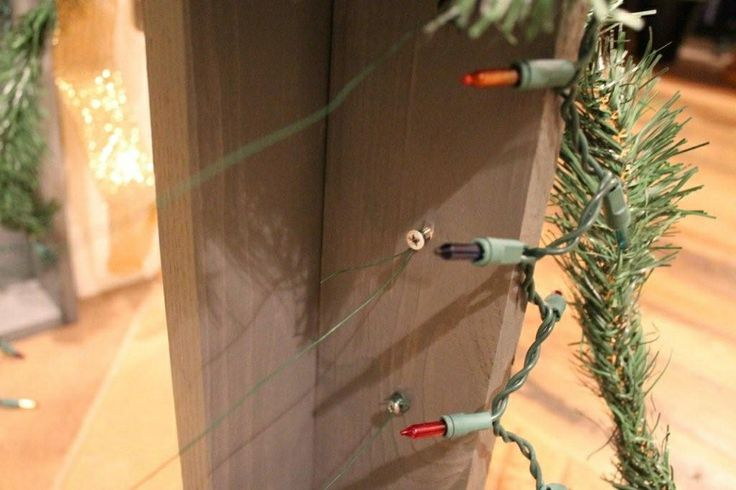 I Drilled In Screws On The Inside On Both Sides To Wind The Green Floral  Wire · Both SidesChristmas Card ...