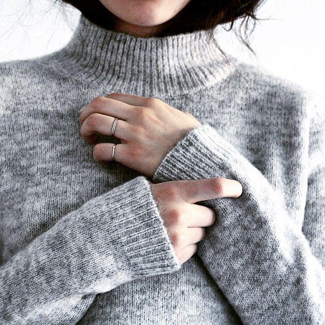 Blogger Monja Wormser in Samsøe & Samsøe knit.