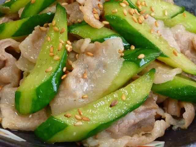 ✜豚肉ときゅうりの中華炒め✜の画像