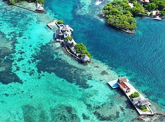 The Islands of Baru near Cartagena Colombia
