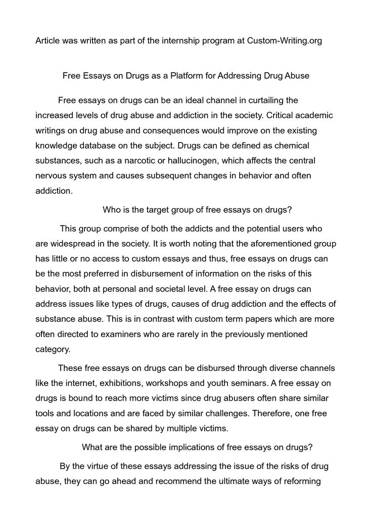 narrative essay about drug addiction 100% free papers on addiction essay sample topics, paragraph introduction help, research & more class 1-12, high school & college.