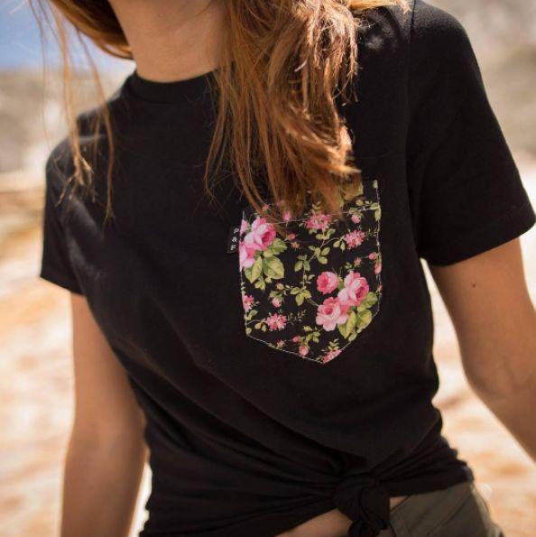 Women's clothing・Pocket tee・Flowers・Pattern・Funny・Spring ❖ Vêtements pour femmes・Printemps・Chandail à poche・Fleurs・Motifs・Montréal