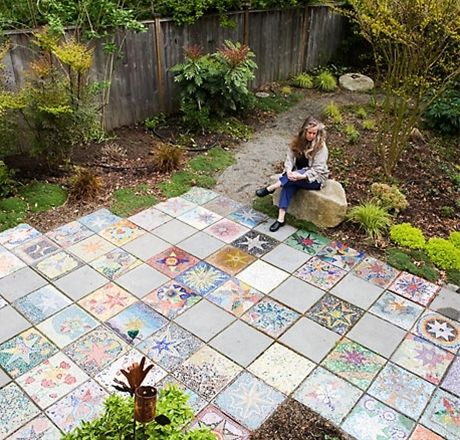 Mosaic tile patio patio ideas pinterest mosaic tiles popular pins and popular - Basics mosaic tiles patios ...