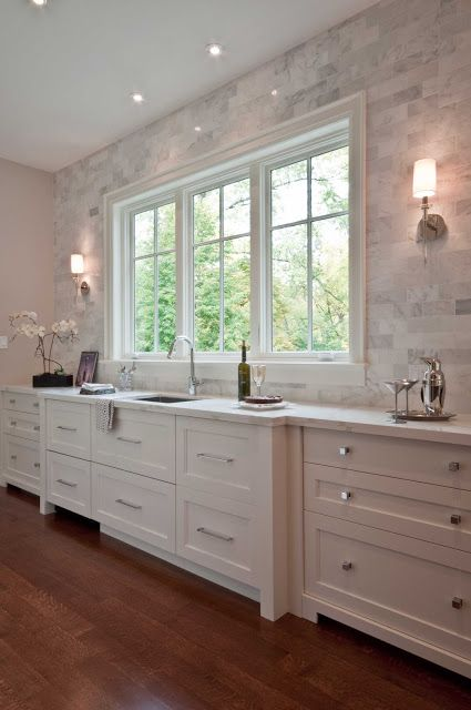 lovely counter to ceiling marble tile white inset cabinets diamastone calacatta quartz
