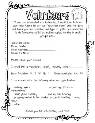 The 25 best parent volunteer letter ideas on pinterest parent beginning of the year business volunteers add book orders spiritdancerdesigns Choice Image