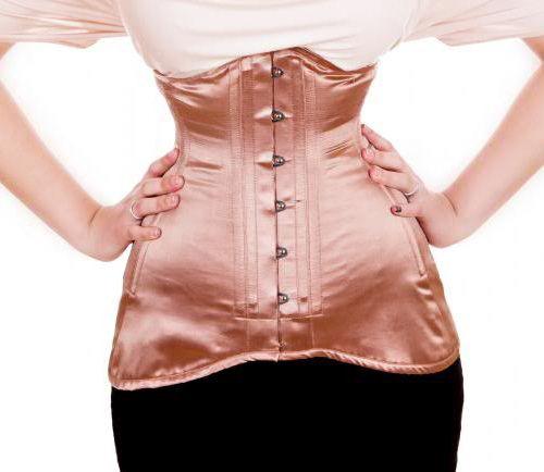 Longline corset - Rose