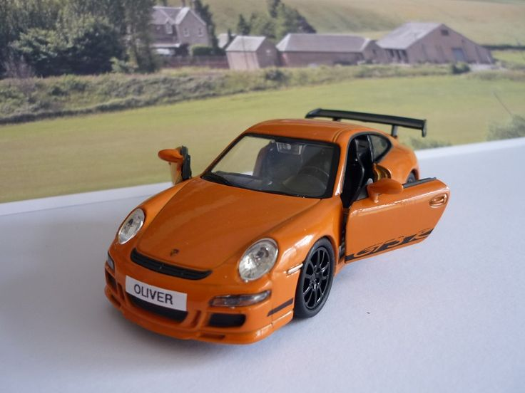 Personalised Plate Orange Porsche 911