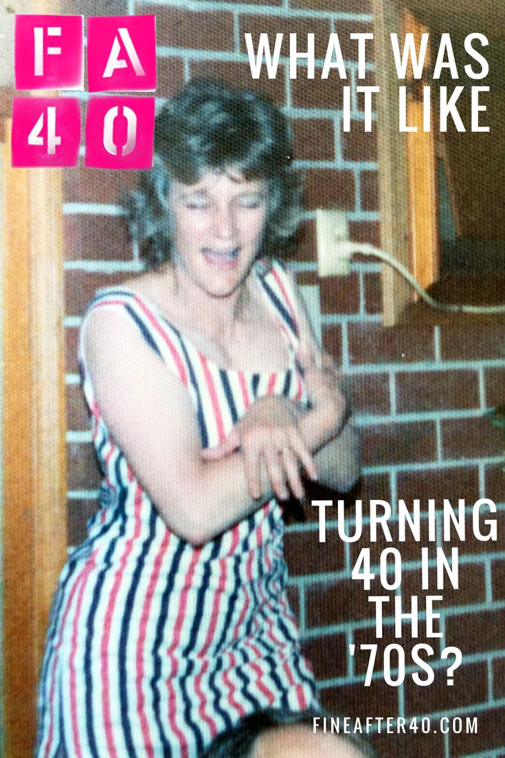 What was it like turning 40 in the 1970s? Or 50 in the '80s? How different to today? Check out the FA40 bloggedy blog to find out. PS That's my Mama on her 40th BDay xx