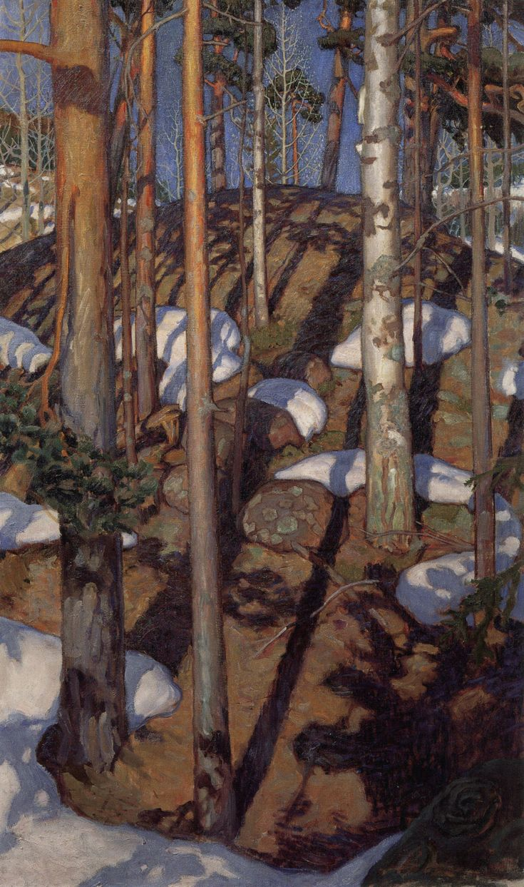 Akseli Gallen-Kallela via the Athenaeum - Spring at Kalela...love the shadows!