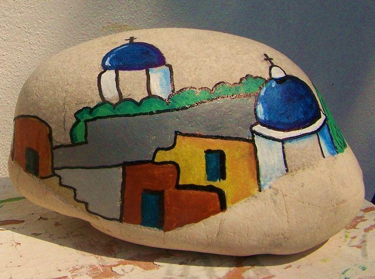 acrílica sobre pedra