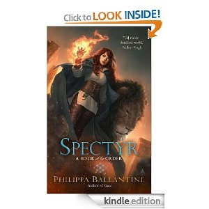 Spectyr, second Book of the Order. Sorcha and the Rossin on the cover. Art by Jason Chan.