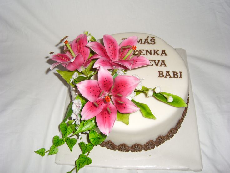 květinový dort, cake flower