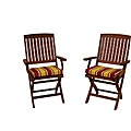 All-weather Outdoor Folding Chair Pads (Pack of 2)