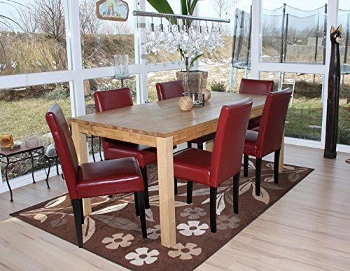 Set 6x sedie Littau pelle per sala da pranzo 43x56x90cm http://www.mobilionline.info/shop/sala-da-pranzo/mobile-completo-da-sala-da-pranzo/set-6x-sedie-littau-pelle-per-sala-da-pranzo-43x56x90cm-rosso-piedi-scuri/ #saladapranzo #mobili #mobilecompleto #sedie #designmoderno