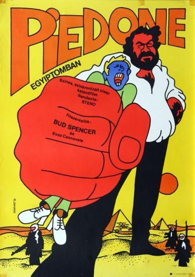 original vintage movie poster hungary 1980s piedone egypt italy