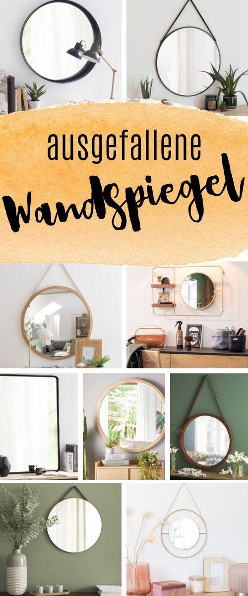Originelle Wandspiegel – Dekoration für das Wohnzimmer im skandinavischen Stil   – Wohnen & Einrichten | Living & Decor