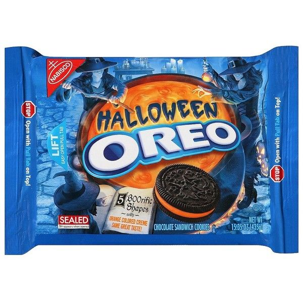 Target Exclusive Nabisco Oreo Halloween Sandwich Cookies 15.35 oz ($7.24) ❤ liked on Polyvore featuring food, food and drink, fillers and halloween