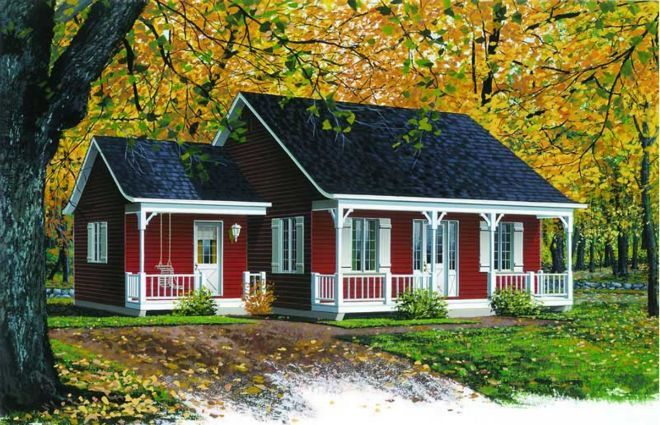 7 functional and adorable country-style floor plans under 1000 square feet