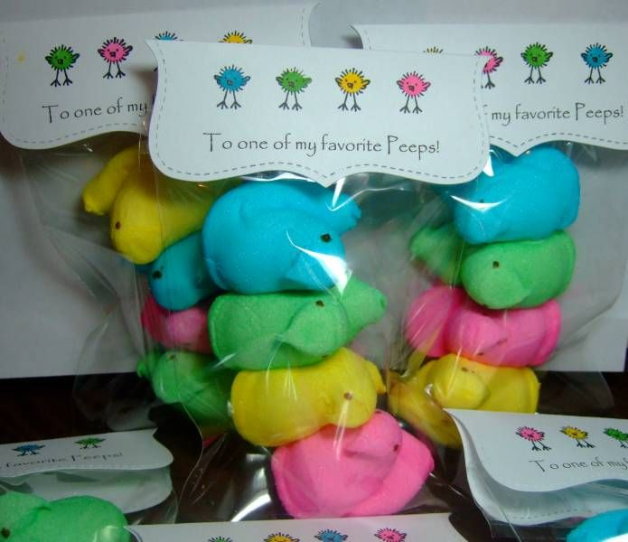 Easter Peeps Bag Topper