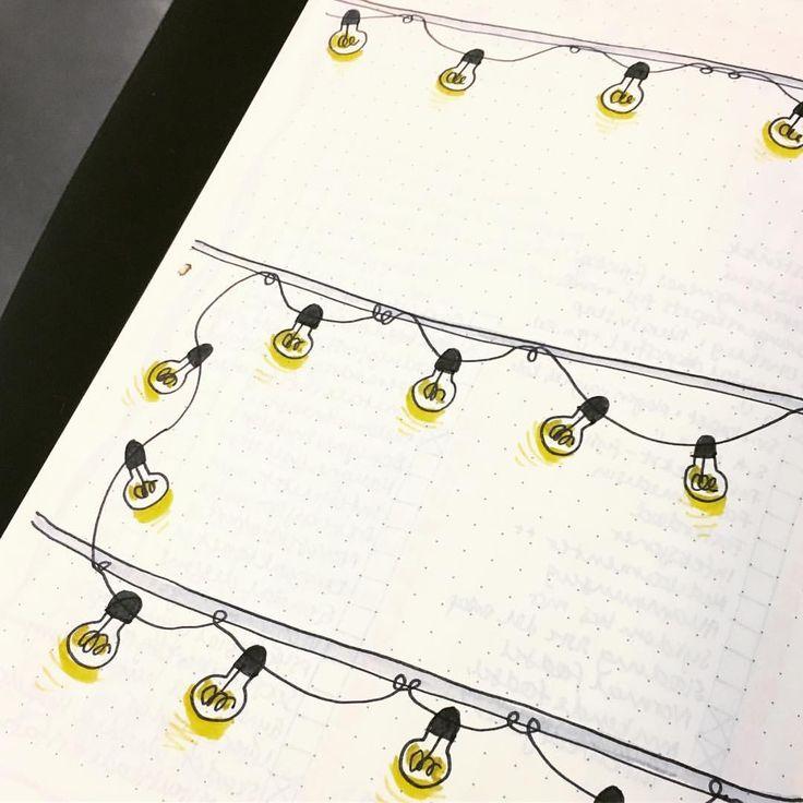 """14 Likes, 1 Comments - a norwegian bullet journal (@bulletjournal_no) on Instagram: """" #bulletjournalno #bulletjournal #tombow #leuchtturm1917 #bujo #bujoinspo #lightbulbs #lightchain…"""""""
