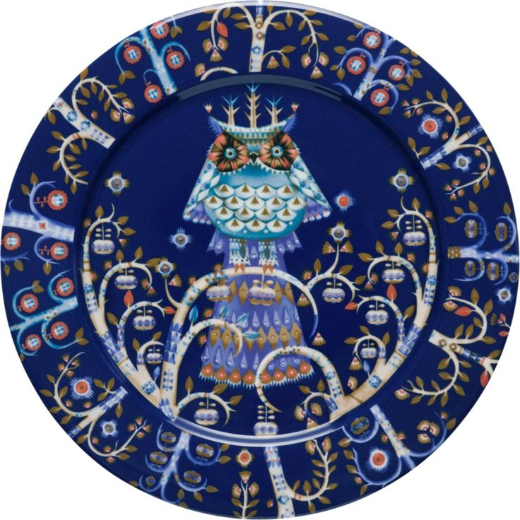 Plate 27 cm blue Klaus Haapaniemi, Heikki Orvola