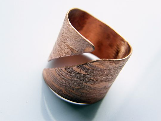 Mens Rings – Armor.copper adjustable ring,open large metal ring – a unique product by LydiaRED on DaWanda
