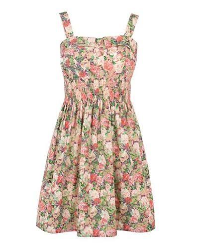 Шифоновое платье в мелкий цветочек