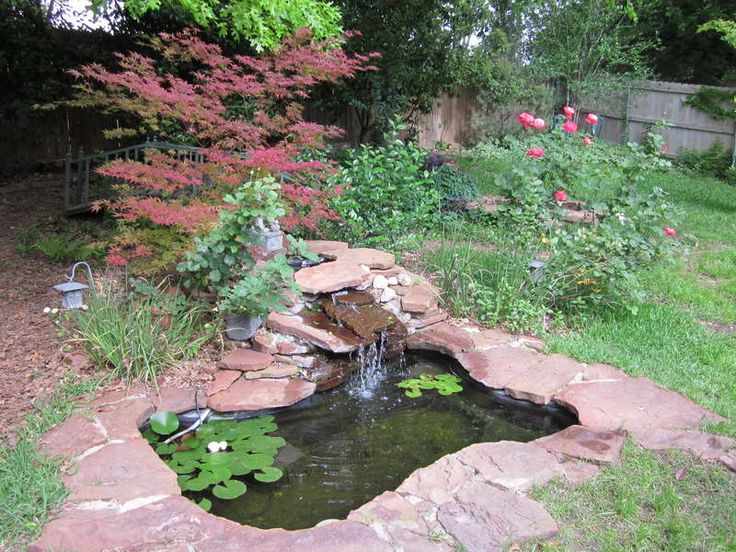 Outdoor:Preformed Pond Liners With Plants Flowers Preformed Pond Liners: Great Solutions for Small Yard