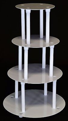 4 TIER CAKE STAND SEPARATOR AND PILLAR SET (STYLE #204)