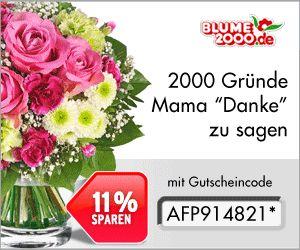 11% Gutschein von Blume2000 - www.qpino.de