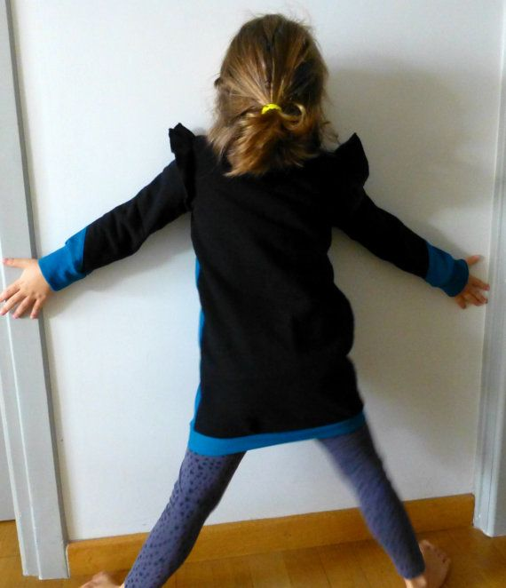 Cotton sweatshirt dress for toddler girls with by ElliandPaul