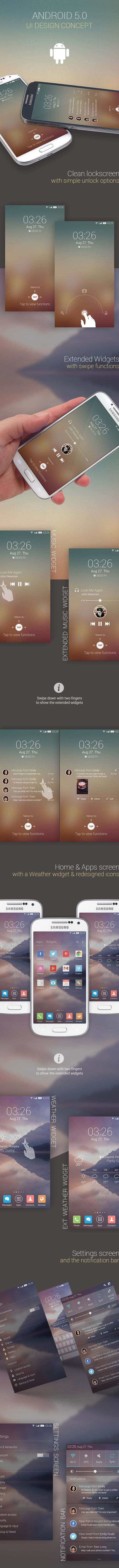 Android 5.0 UI Designs and Concepts for Inspiration