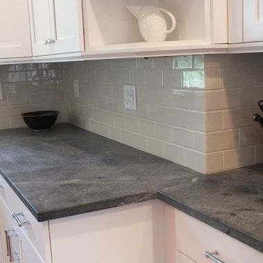 Color I like, not totally black Soapstone Countertop Design