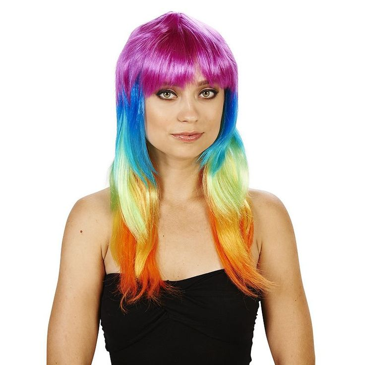 Adult Colorful Costume Wig, Size: standard, Multicolor