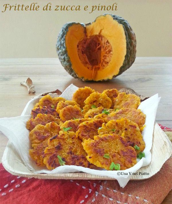Frittelle di zucca e pinoli senza glutine on http://www.unavnelpiatto.it