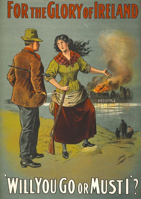 WWI - Will you go or must I? http://laughingsquid.com/women-and-children-in-world-war-i-propaganda-posters/