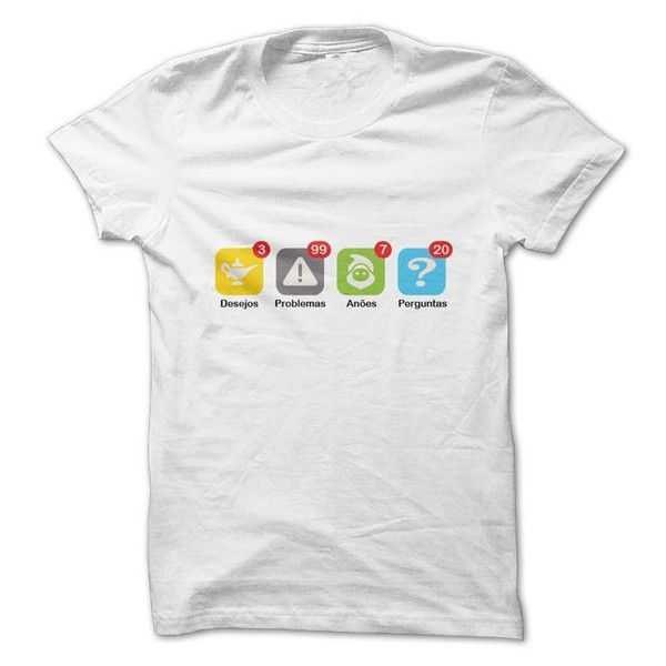 Camiseta Geek Notificações Apps. Visite nossa loja de camisetas personalizadas online