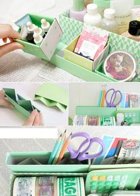Heart Handmade UK: Korean Stationery Love | Desk Top DIY Storage Boxes